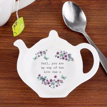Personalised TEA BAG REST - Forget me not