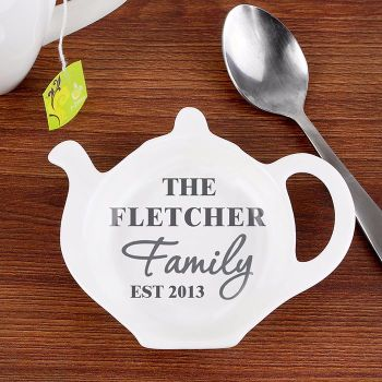 Personalised TEA BAG REST - The Family