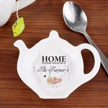 Personalised TEA BAG REST - Shabby Chic