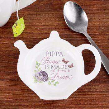 Personalised TEA BAG REST - Secret Garden
