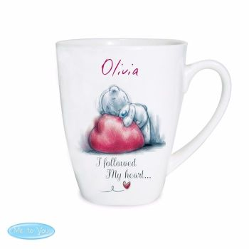 Personalised ME TO YOU Heart Latte Mug