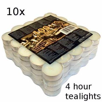 10x 4 Hour Burn Tealights