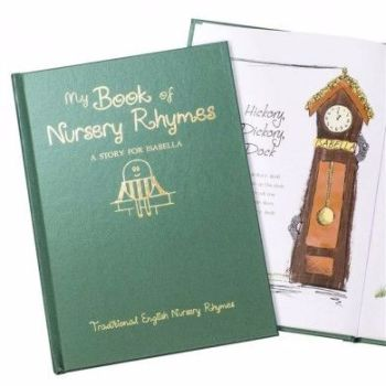 Personalised My Book of Nursery Rhymes Embossed Classic Hardcover