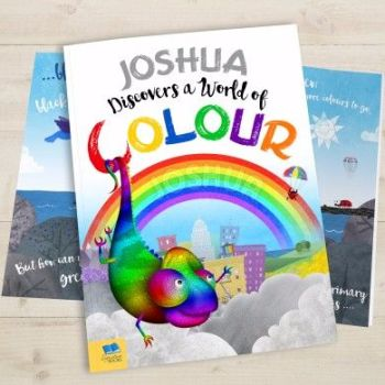 Personalised Discover a World of Colour Book - Soft or Hardbacked