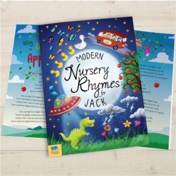 Personalised Modern Nursery Rhymes Book - Soft or Hardbacked