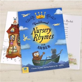 Personalised Traditional Nursery Rhymes Book - Soft or Hardbacked