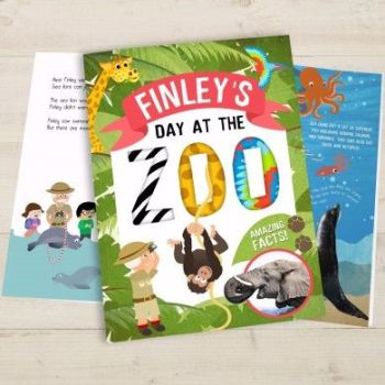 Personalised My Day at the Zoo Book - Soft or Hardbacked