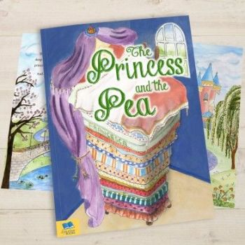 Personalised Princess and the Pea Book - Soft or Hardbacked