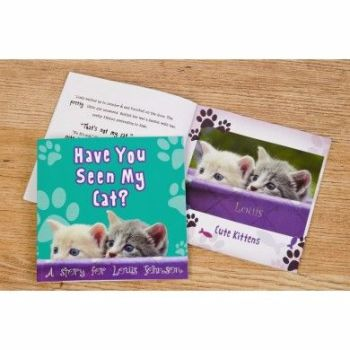 Personalised Have You Seen My Cat? Book - Soft or Hardbacked