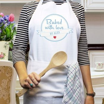 Personalised BAKED WITH LOVE APRON
