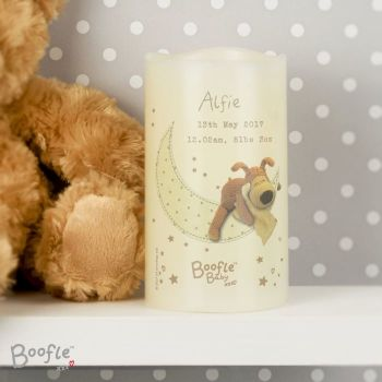 Personalised BOOFLE Baby LED Nightlight Candle