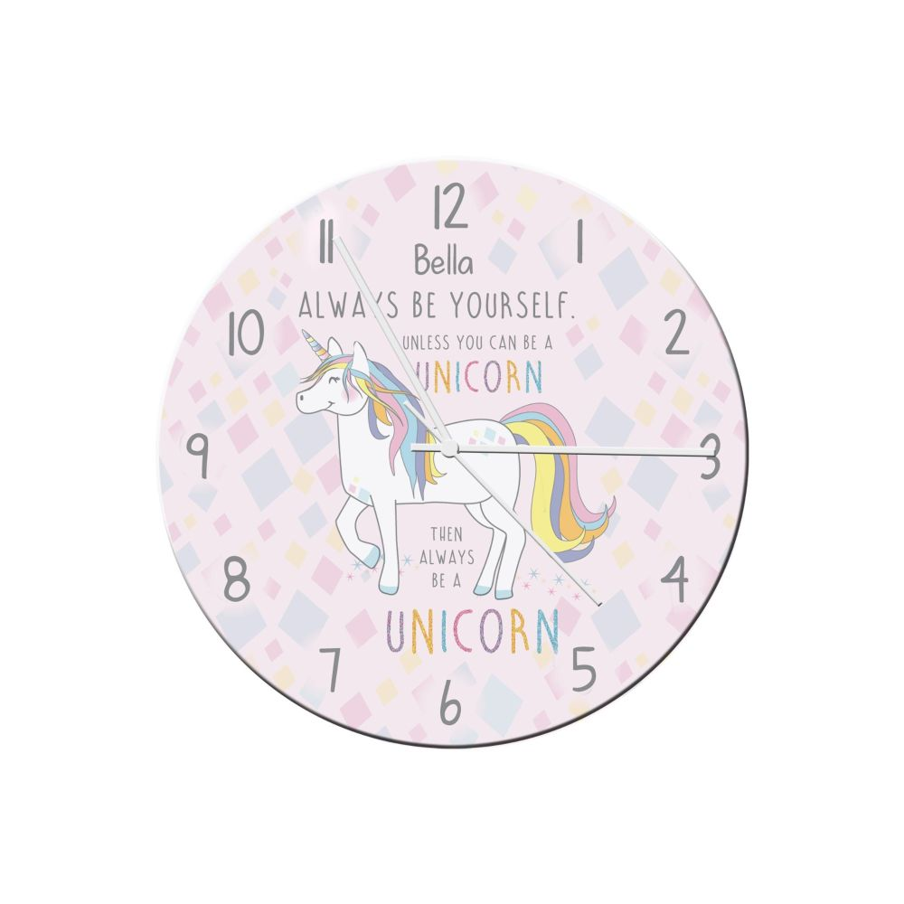 Personalised ALWAYS BE A UNICORN CLOCK