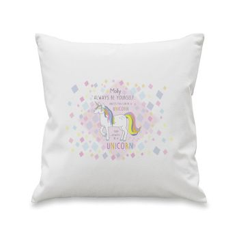 Personalised ALWAYS BE A UNICORN Cushion Cover