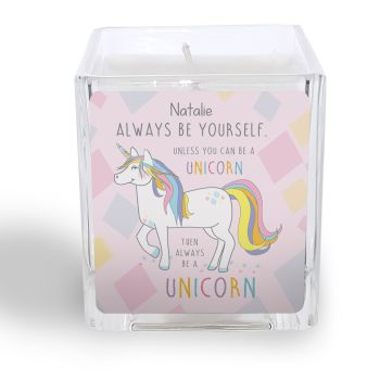 Personalised ALWAYS BE A UNICORN Candle