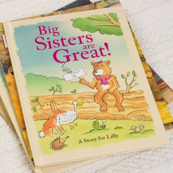 Personalised New Big Sister Book - Available in Soft of Hard Back