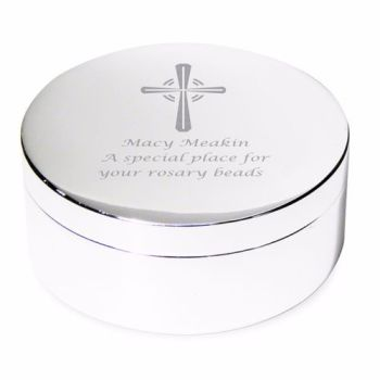 Personalised Rosary Bead Trinket Box (Rosary not inc.)