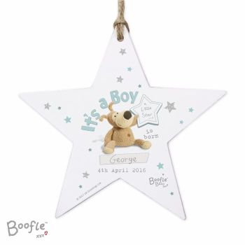 Personalised BOOFLE IT'S A BOY Star Decoration
