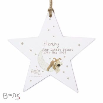 Personalised BOOFLE BABY Star Decoration
