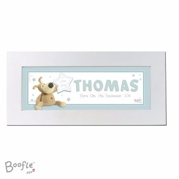 Personalised BOOFLE BABY BOY Name Frame