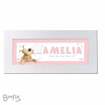 Personalised BOOFLE BABY GIRL Name Frame