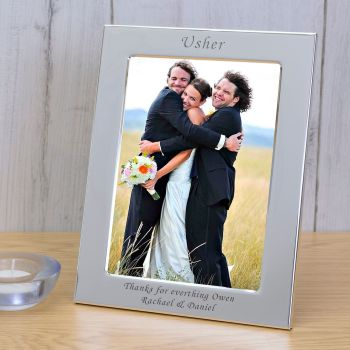 Personalised 6x4 USHER Silver Plated Frame