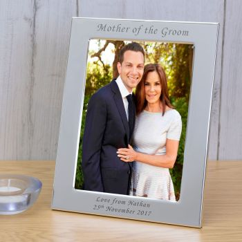 Personalised 6x4 MOTHER OF THE GROOM Silver Plated Frame