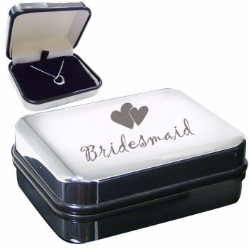 Bridesmaid Sterling Silver Heart Necklace in Presentation Box