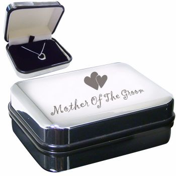 Mother of the Groom Sterling Silver Heart Necklace in Presentation Box
