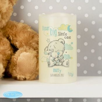 Personalised TATTY TEDDY LED Nightlight Candle - Blue