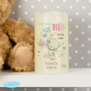 Personalised TATTY TEDDY LED Nightlight Candle - Pink