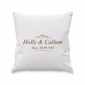 Personalised COUPLE SINCE.... Cushion Cover