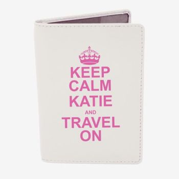 Personalised Passport Cover - Keep Calm & Travel On Passport Cover