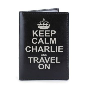 Personalised Passport Cover - Keep Calm & Travel On Passport Holder