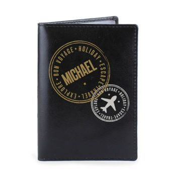 Personalised Passport Cover - Travel Stamp Passport Cover