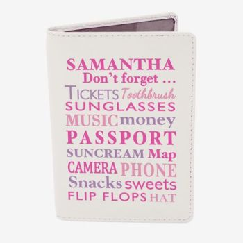 Personalised Passport Cover - Don't Forget Passport Holder