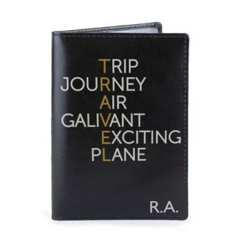 Personalised Passport Cover - Travel Passport Holder