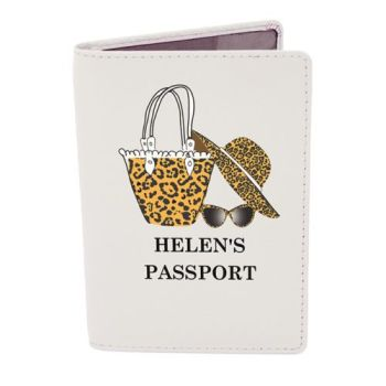Personalised Passport Cover - Leopard Print Passport Holder