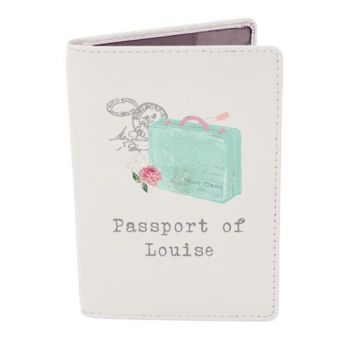Personalised Passport Cover - Vintage Suitcase Passport Holder