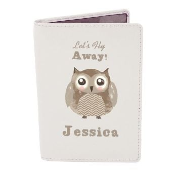 Personalised Passport Cover - Cute Owl Passport Holder