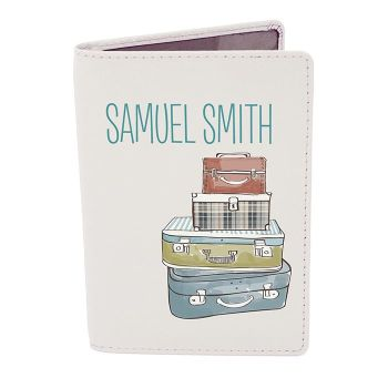 Personalised Passport Cover - Suitcase Passport Holder