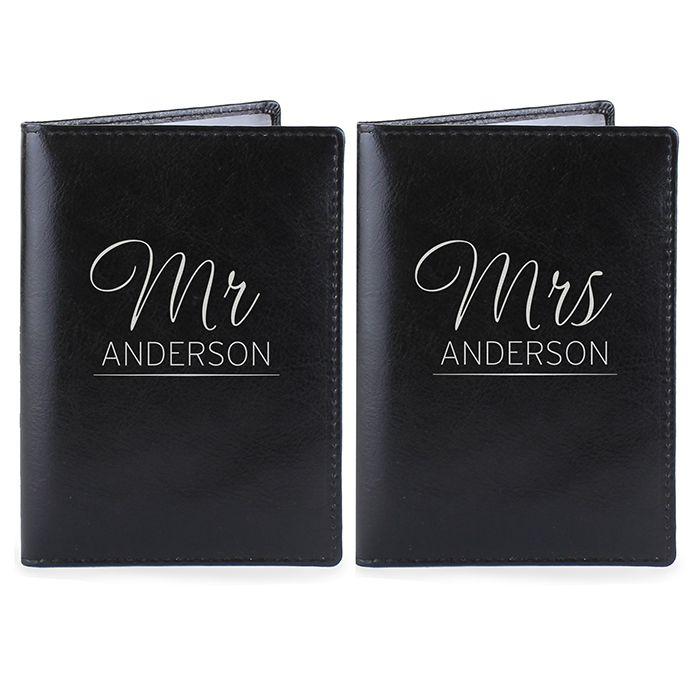 Personalised Passport Cover - MR & MRS Passport Covers