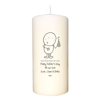 Personalised BEST DAD CANDLE