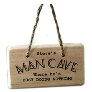 Personalised MAN CAVE Wooden Door Sign