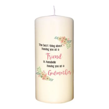 Personalised BEST THING ABOUT... Candle