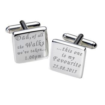 Personalised DAD OF ALL THE WALKS... Cufflinks (white or black available)