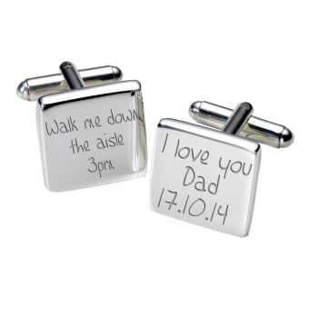 Personalised DAD WALK ME DOWN AISLE Cufflinks