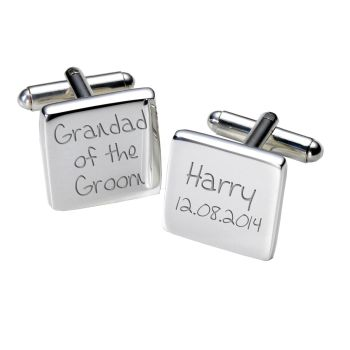 Personalised GRANDAD OF GROOM Cufflinks