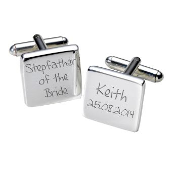 Personalised STEPFATHER OF BRIDE Cufflinks
