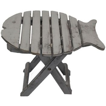 Wooden FOLDING FISH CHAIR - White Washed