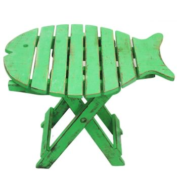 Wooden FOLDING FISH CHAIR - Green